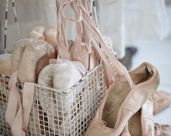 9 pairs of original vintage ballet shoes