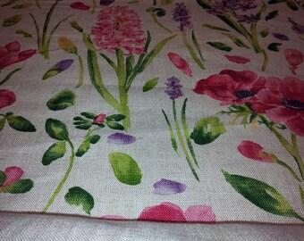Spring flower linen tailor made roman blind