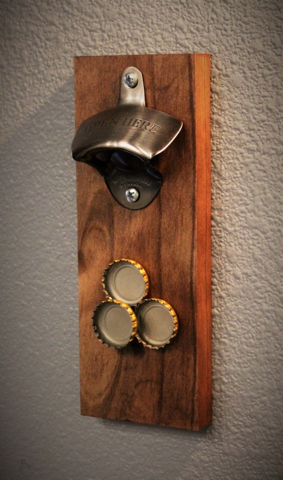 Wall mount bottle opener magnetic bottle by rustichooksandmore - Bottle opener wall mount magnet ...