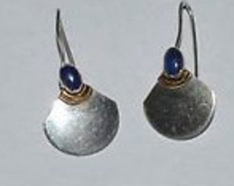 Vintage Lapis Silver Earrings
