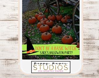 HALLOWEEN SNAPCHAT GEOFILTER, Custom Snapchat Geofilter, Basic Witch, Halloween Party, Halloween Party Decorations, Halloween