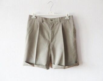 Men's Golf Shorts Gray Checkered Shorts With Pockets Plaid Polo Style Clothing Mens Polo Shorts Size Large Shorts