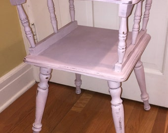 "Sold- Charming ""Shabby Chic"" Pink Side Table / night stand"
