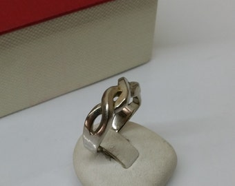 16.6 mm silver ring braid ring RP172