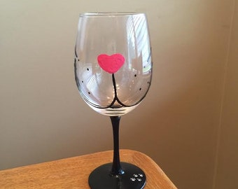 Meow! Hand Painted Wine Glass
