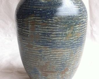 Grey stoneware vase.