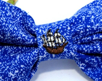Dog Bowtie - Mixed Bowtie Fabric Bowtie - Pet Bowtie Embroidery Handmade - Dog Accessories - Dog Clothing Animal Bowtie - Embroidered Ship