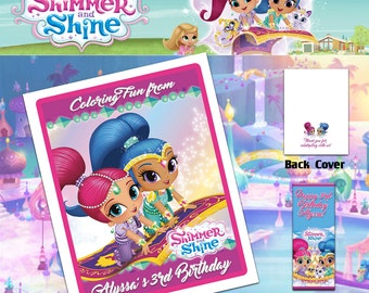 Shimmer and Shine Coloring Book with Crayons