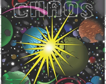 Cosmic Chaos Coloring Book