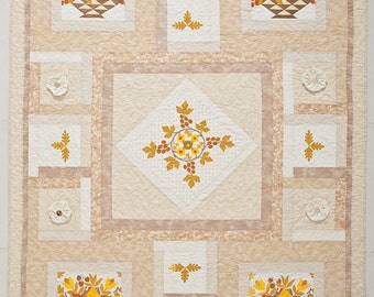 Baltimore Beauty Vintage Tablecloth Quilt
