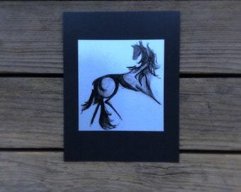 Ambush PRINT charcoal drawing