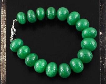 Green Emerald Bead Bracelet, 311.95 ctw