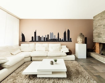 Dubai City Silhouette Wall Decal Sticker