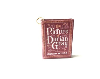 Miniature Picture of Dorian Gray Book Necklace/Keychain