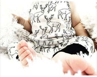 Deer Modern / Urban Baby / Toddler Girl / Boy Romper