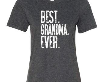 Best Grandmom Ever. Best grandma tee. Best grandma ever shirt. Grandma Shirt. Grandma gift. GRAY