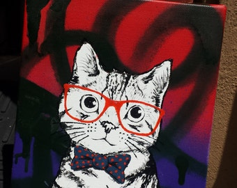 Cute Hipster Kitty