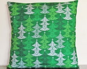 SALE! Christmas Cushion Cover, Gifts under 20, Holiday Decor, Green, Christmas, Handmade, Christmas Gifts, 18x18 Pillow Cover, Handmade