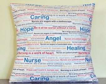 Gift for Nurse, Gifts under 20, Decorative Pillow Cover, Handmade, Pillow Cover, Medical Student Gift, Student Nurse Gift, Gift Ideas