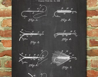 Fly Fishing Gift Idea, Fly Fishing Art, Dad Present, Fly Fishing Poster, Outdoorsman Gift Idea, Camping Dad Fishing Lure Fishing Print P047