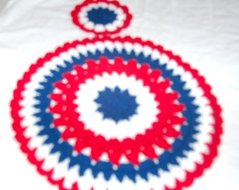 Table settings, Placemats, Coasters, Patriotic, 4th of July, Holiday