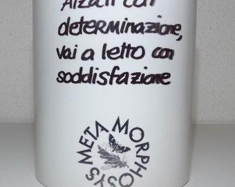 """Ceramic mug """"raised with determination."""""""