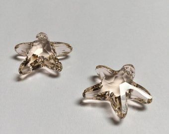 Swarovski Crystal Starfish Pendant 20 MM Silk - 2 Pieces - CB035
