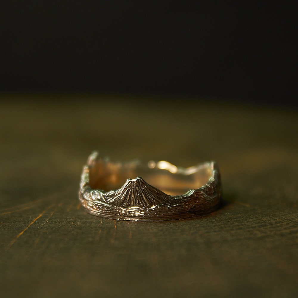sterling silver mountain ring mountain jewelry mountain. Black Bedroom Furniture Sets. Home Design Ideas