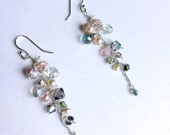 shell inspired drop earrings