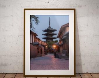 Japan Pagoda Canvas, Large Wall Art, Japan Kyoto Photo, Japan Sunrise Photo, Canvas Fine Art, Japan Wall Art, Home Decoration