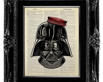 Star Wars BATHROOM Decor, Bathroom Wall Decor, Funny BATHROOM Art, Bathroom Wall Art, Star Wars Wall Art, Darth VADER with Hair Brush Sign