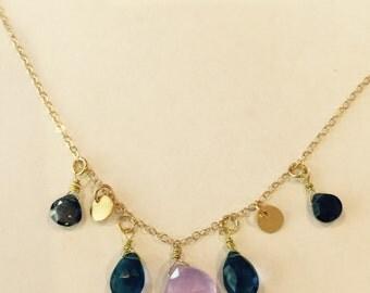 Lavender kyanite Necklace