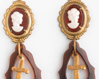Our Lady of the Dagger Earrings