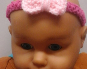 Pink Bow Head Band