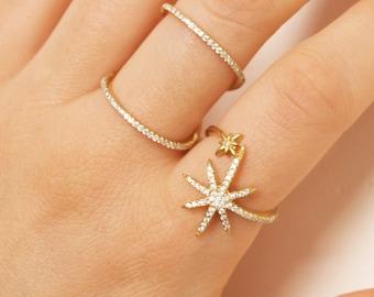 Gold cz ring - bar ring - cage ring - cz cage ring - stacking ring - tiny cz ring - cubic zirconia ring - cz bar ring - B19017