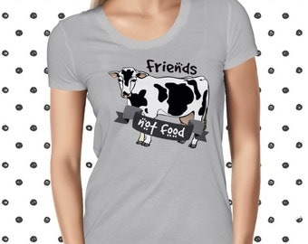 Cow Shirt Vegan Shirt Vegan Tshirt Vegetarian Shirt Vegan Clothing Vegan T-Shirt Vegan T Shirt Animal Rights Vegan Tee Vegan Gift For Farmer
