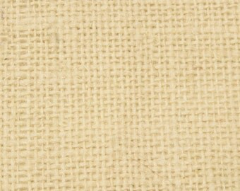 """8oz White Burlap by the Yard - 46"""" Wide, 100% Jute"""