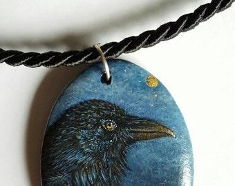 Pendants Raven Mystic, hand painted