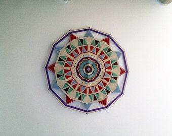 ojo de dois mandala weaving ,Indian'70*70cm