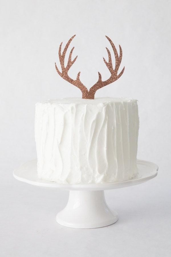 Antler Cake Topper Deer Antler Cake Topper Woodland Themed
