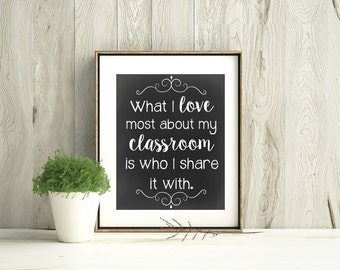 Printable Art, Classroom Decor, Classroom decoration, Teacher Inspirational Print, Teacher Appreciation