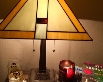 Vintage Tiffany Style Accent Lamp
