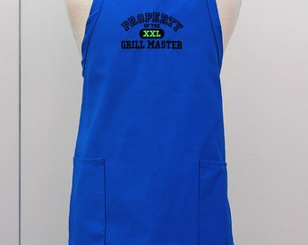 Apron for Him, Grill Master, BBQ Apron