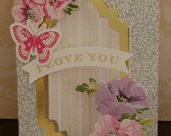 3D Handmade I Love YOU Greeting Card