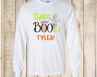 Cute Boys Halloween Shirt - Ghost Shirt - Halloween Outfit - Trick or Treat - Toddler Halloween Shirt - Kids Halloween Shirt - Custom Shirt