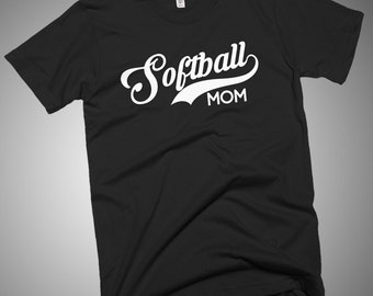 Softball Mom T-Shirt Gift