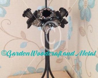 Handmade wrought iron candle holder