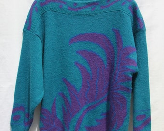 Vintage 1980's patterned jumper