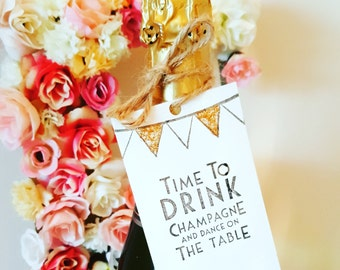 10 x Party/wedding bottle tags