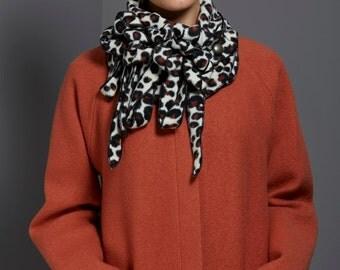 Fleece - Leopard Scarf, Animal Print, Soft fleece, Unusual, On Trend, 3 colourways